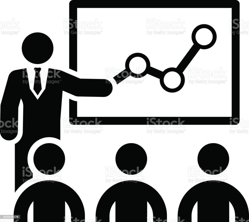 Training Icon. Business Concept. Flat Design vector art illustration