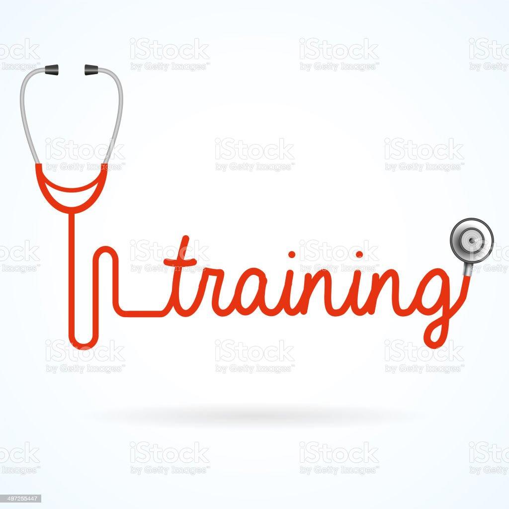 Training stethoscope royalty-free stock vector art