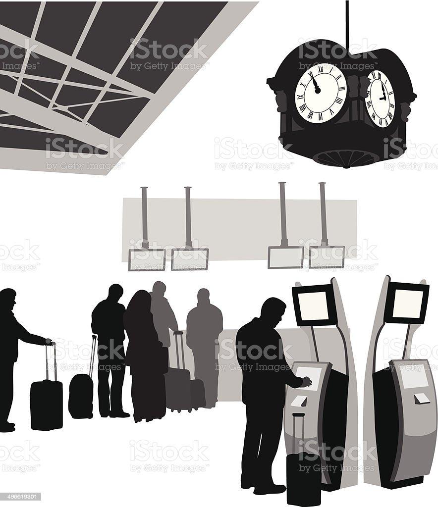 TrainStation vector art illustration