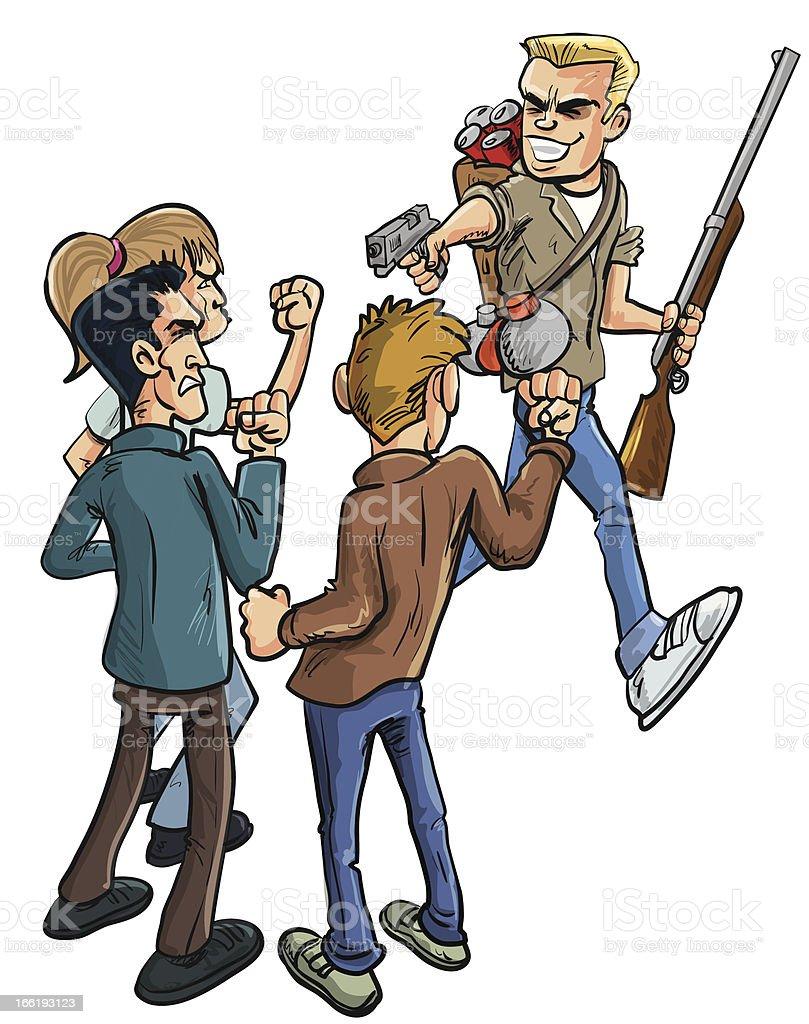 Traitor and Betrayal vector art illustration
