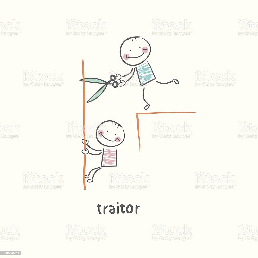 traitor vector art illustration