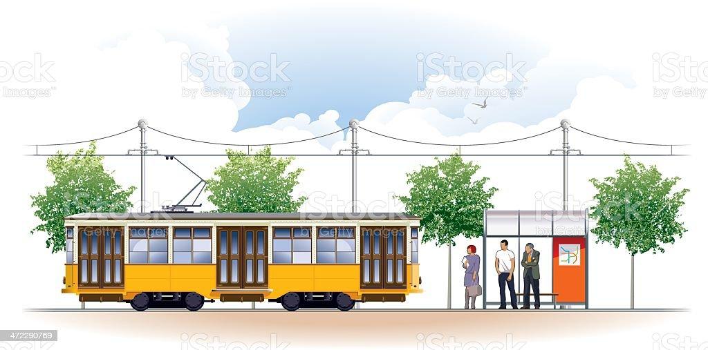 tram royalty-free stock vector art