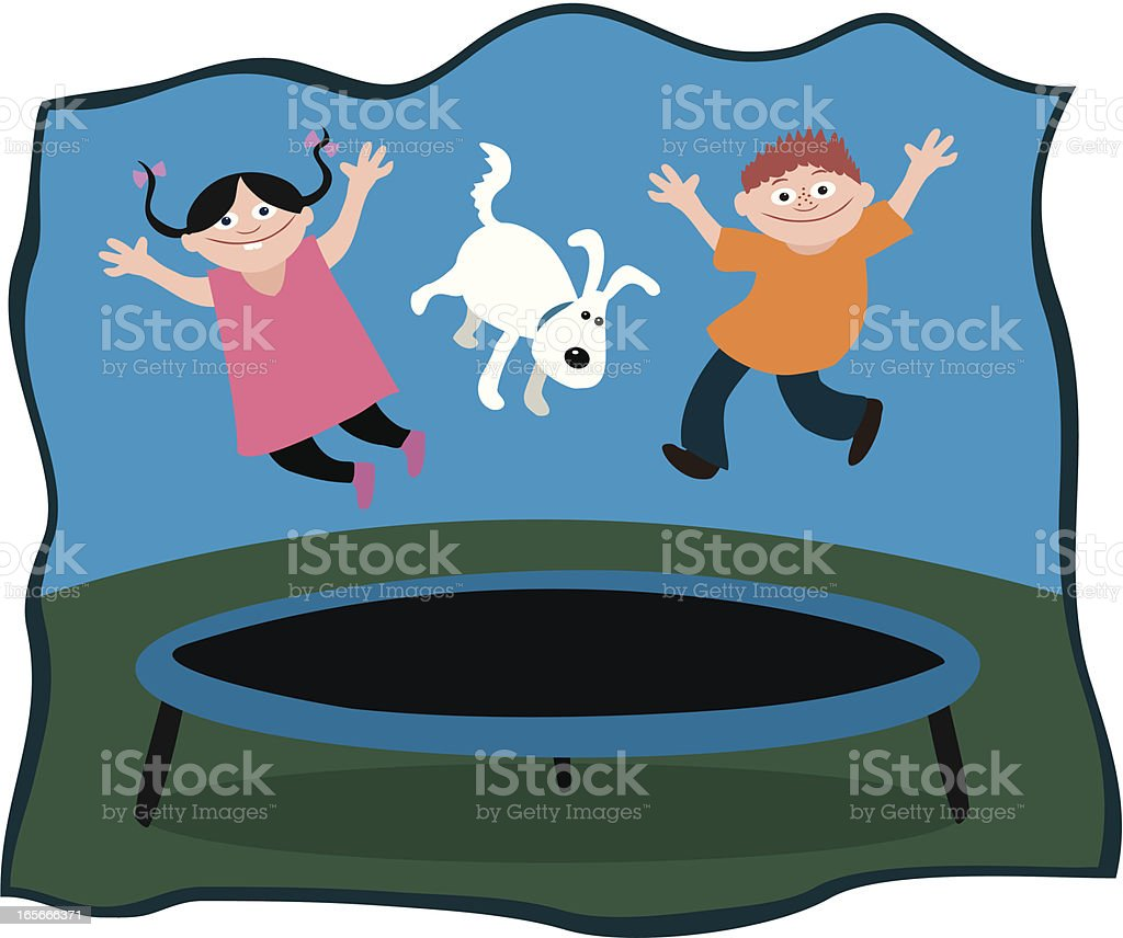 Trampoline Bouncers royalty-free stock vector art