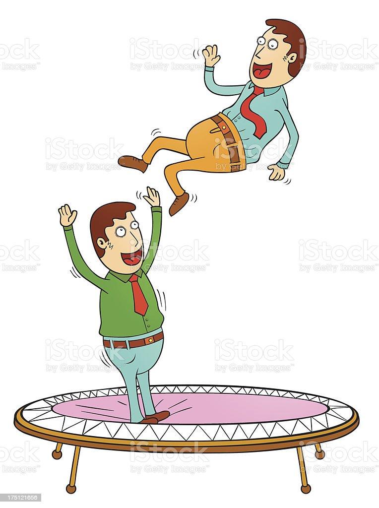 trampoline time vector art illustration