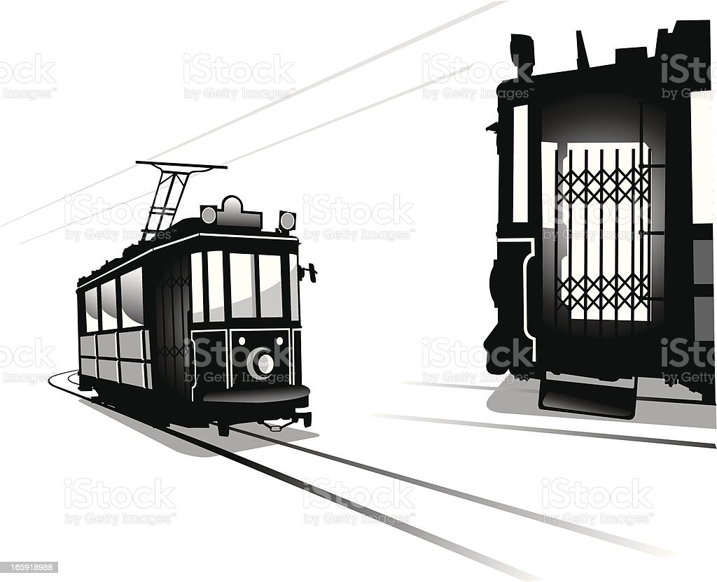 Tramway vector art illustration