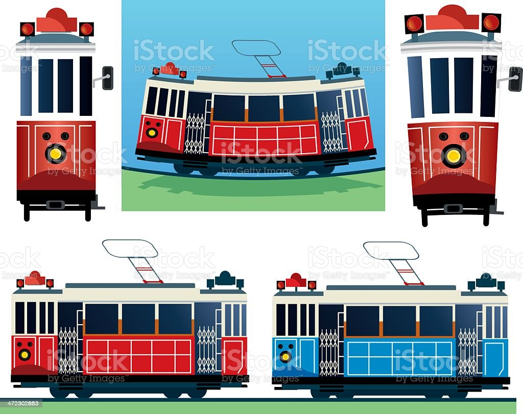 Tramway royalty-free stock vector art