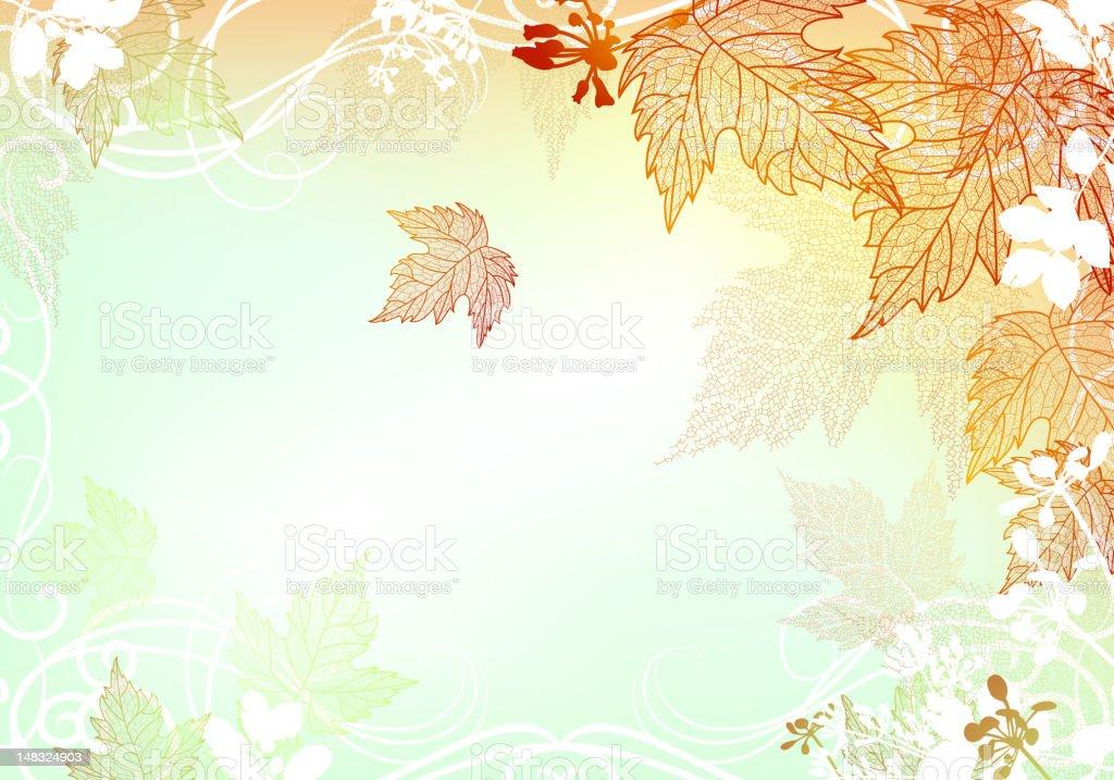 Tranquil Autumn Background vector art illustration