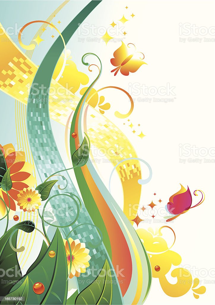 Tranquil background royalty-free stock vector art
