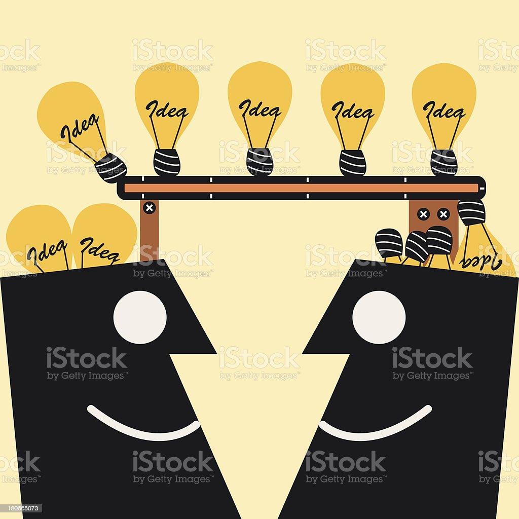Transferring Idea royalty-free stock vector art