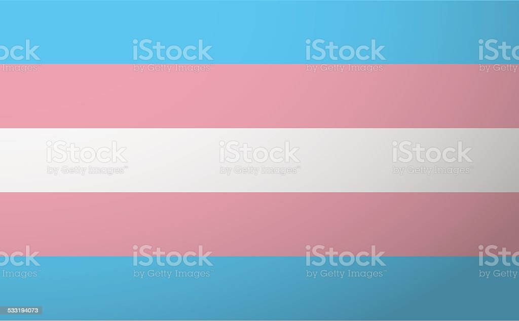 Transgender flag vector art illustration