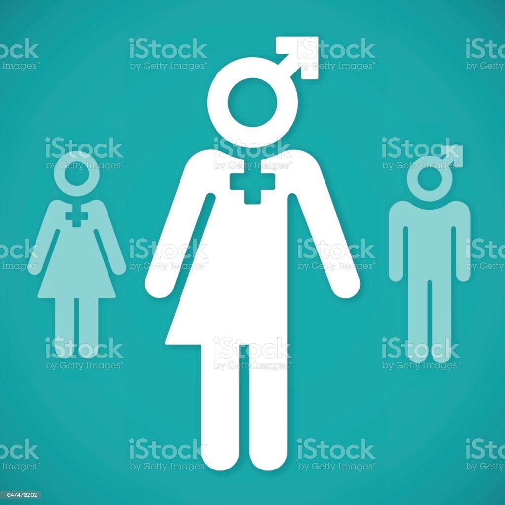 Transgender Person Symbols vector art illustration