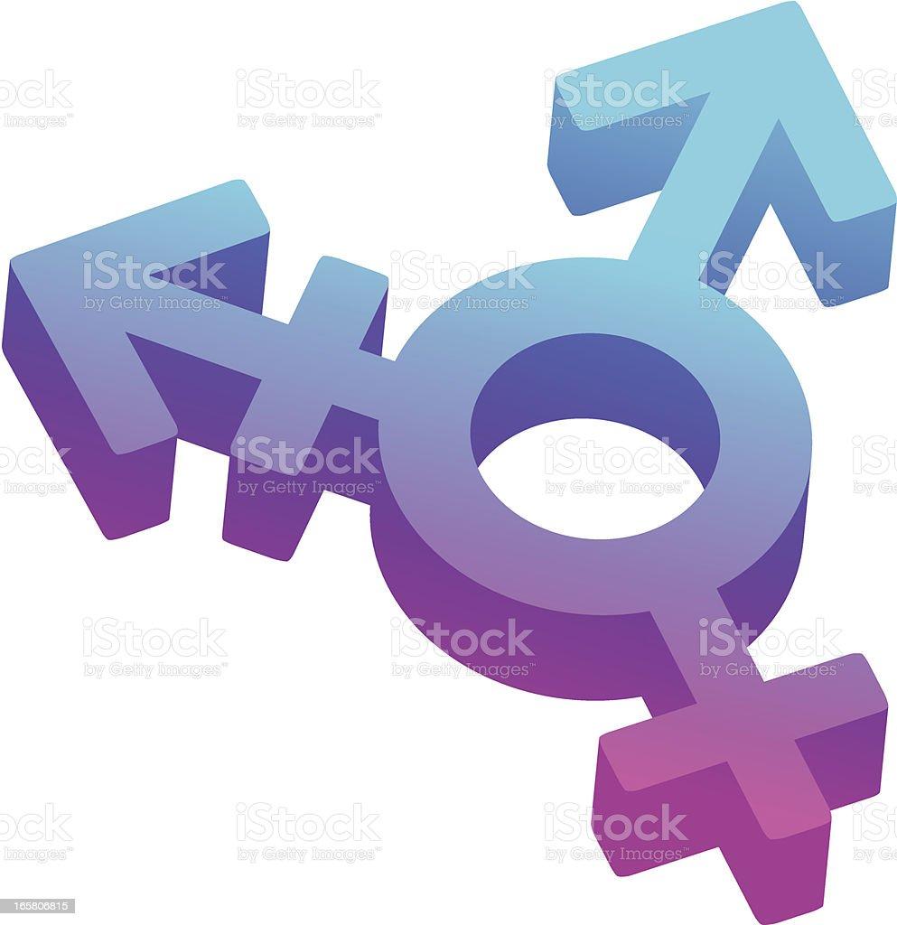 Transgender symbol royalty-free stock vector art
