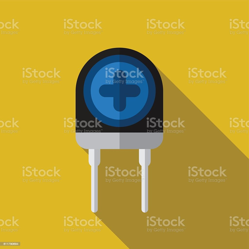 Transistor flat icon illustration vector art illustration