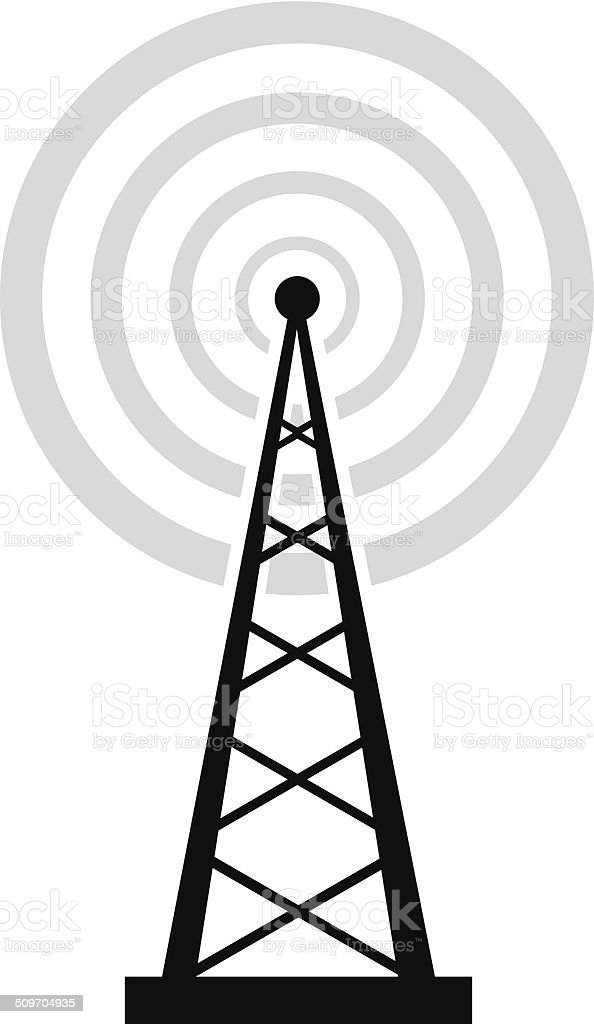 Transmitter icon vector art illustration