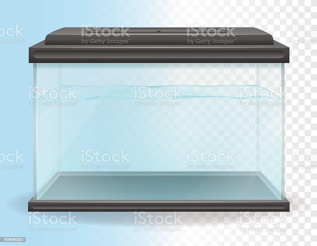 transparent aquarium vector illustration vector art illustration