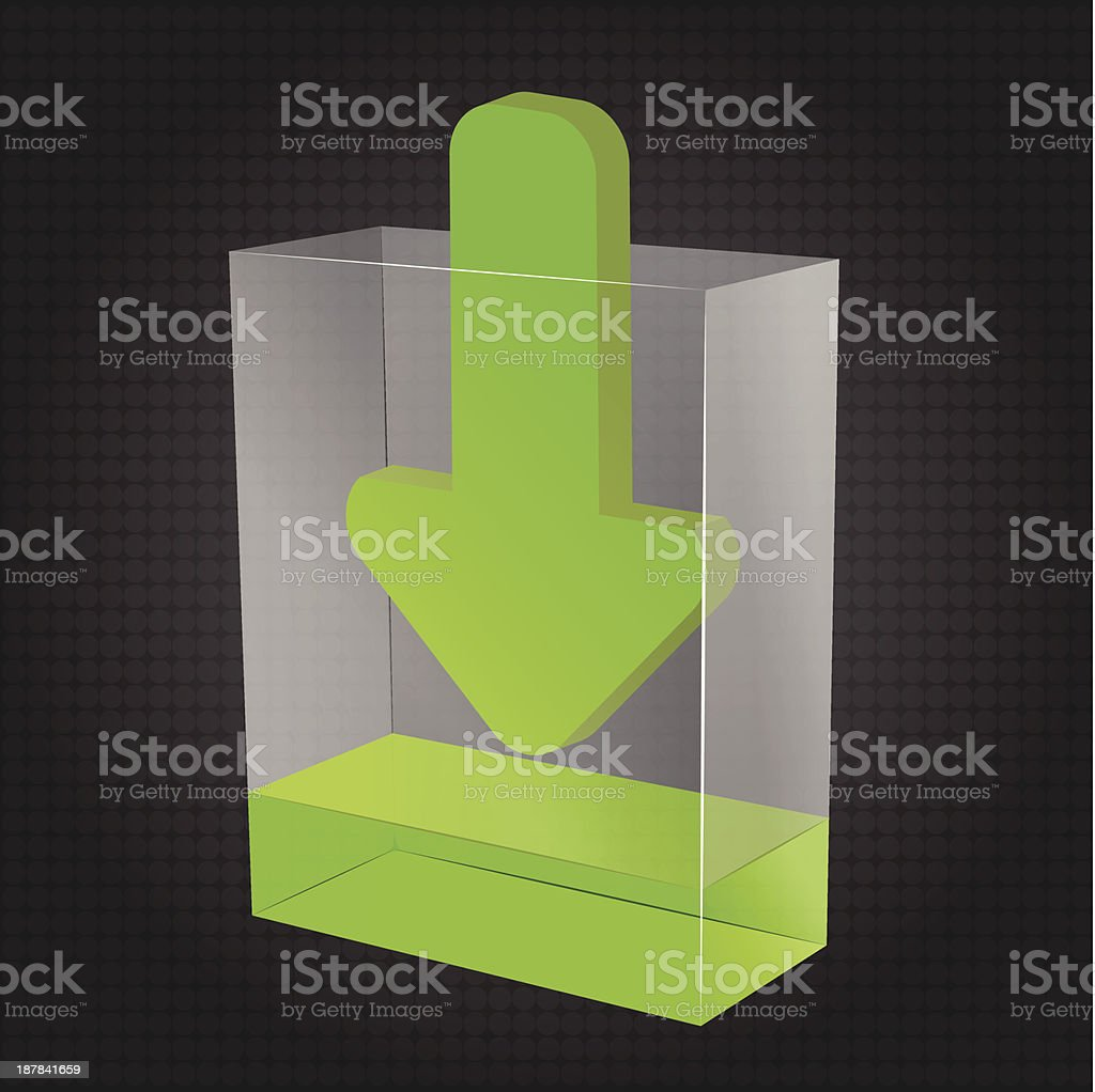 Transparent Download Box vector art illustration