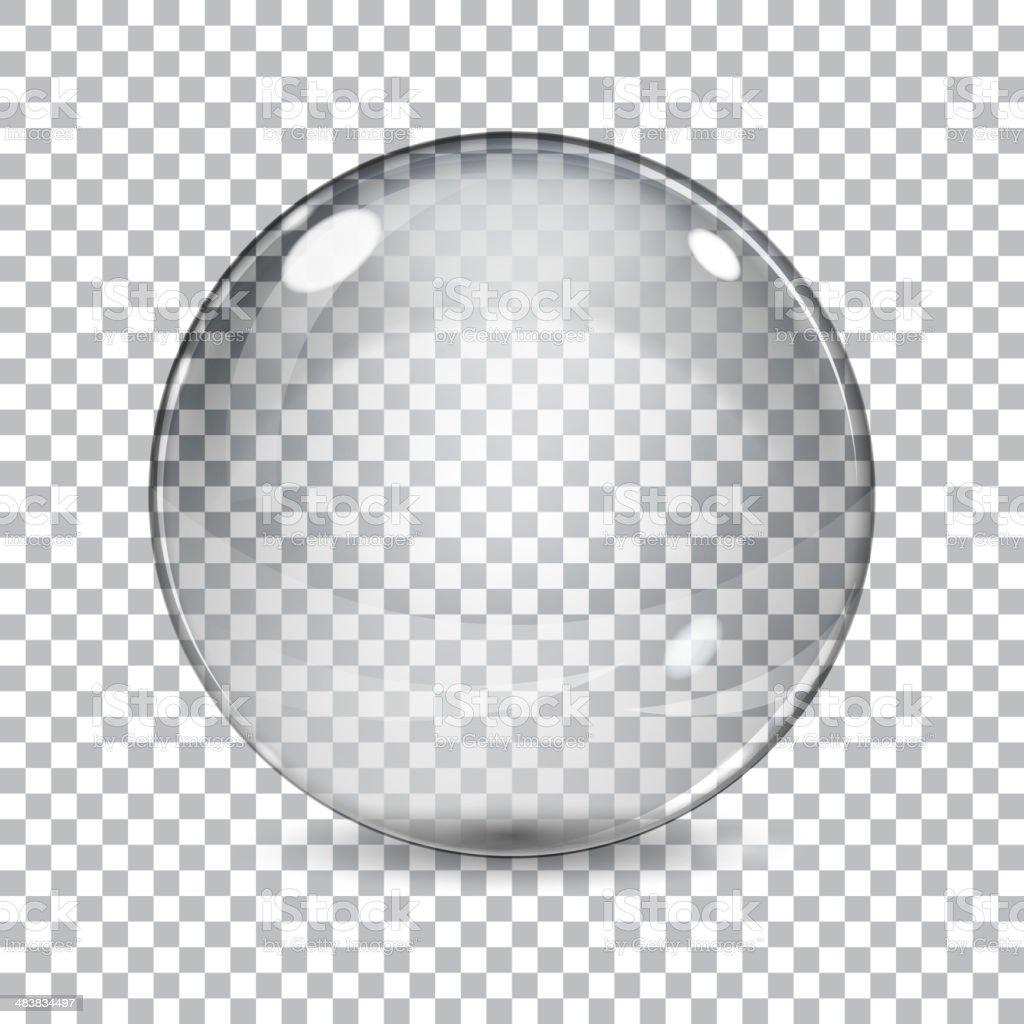 Transparent  glass sphere vector art illustration