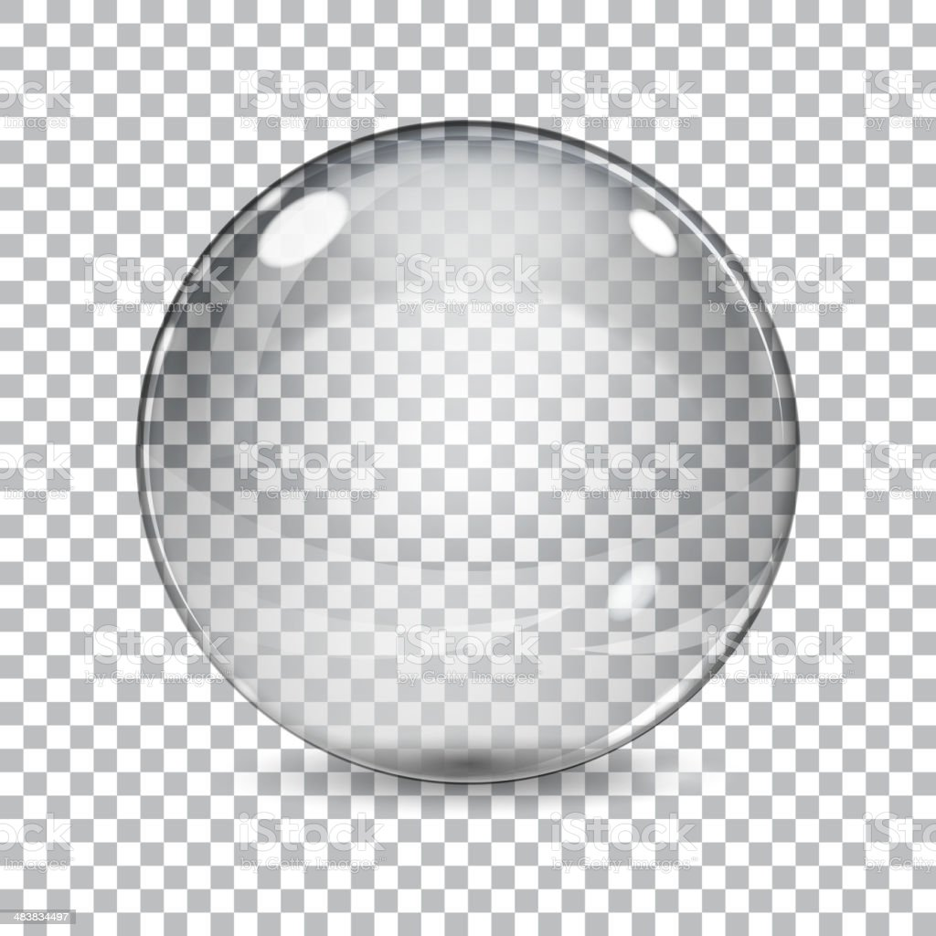 Transparent  glass sphere vector art illustration