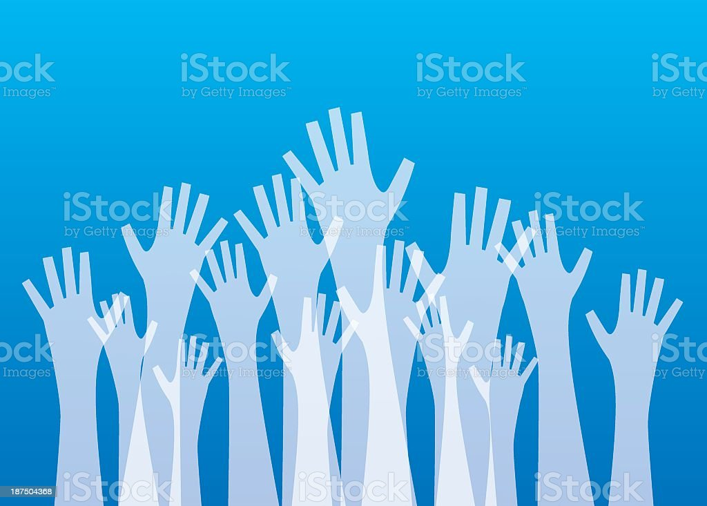 Transparent Hands Reaching Up royalty-free stock vector art