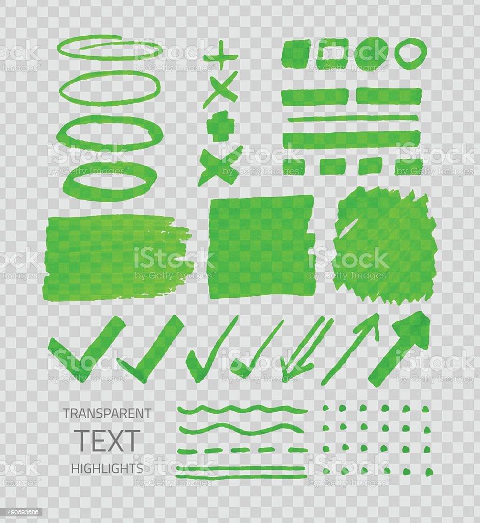 Transparent highligter spots vector art illustration