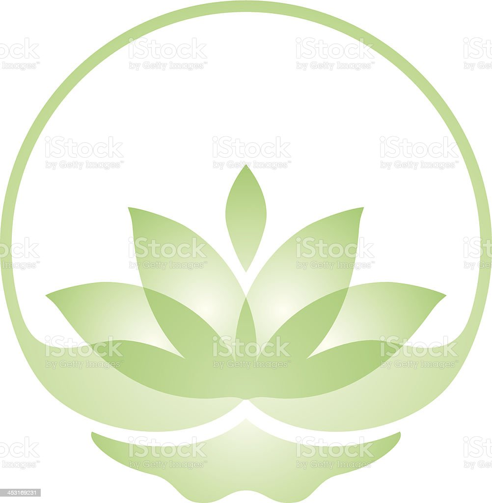 Transparent lotus vector art illustration