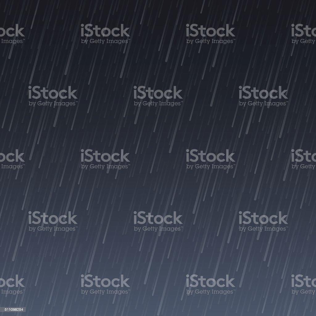 Transparent Rain Image vector art illustration