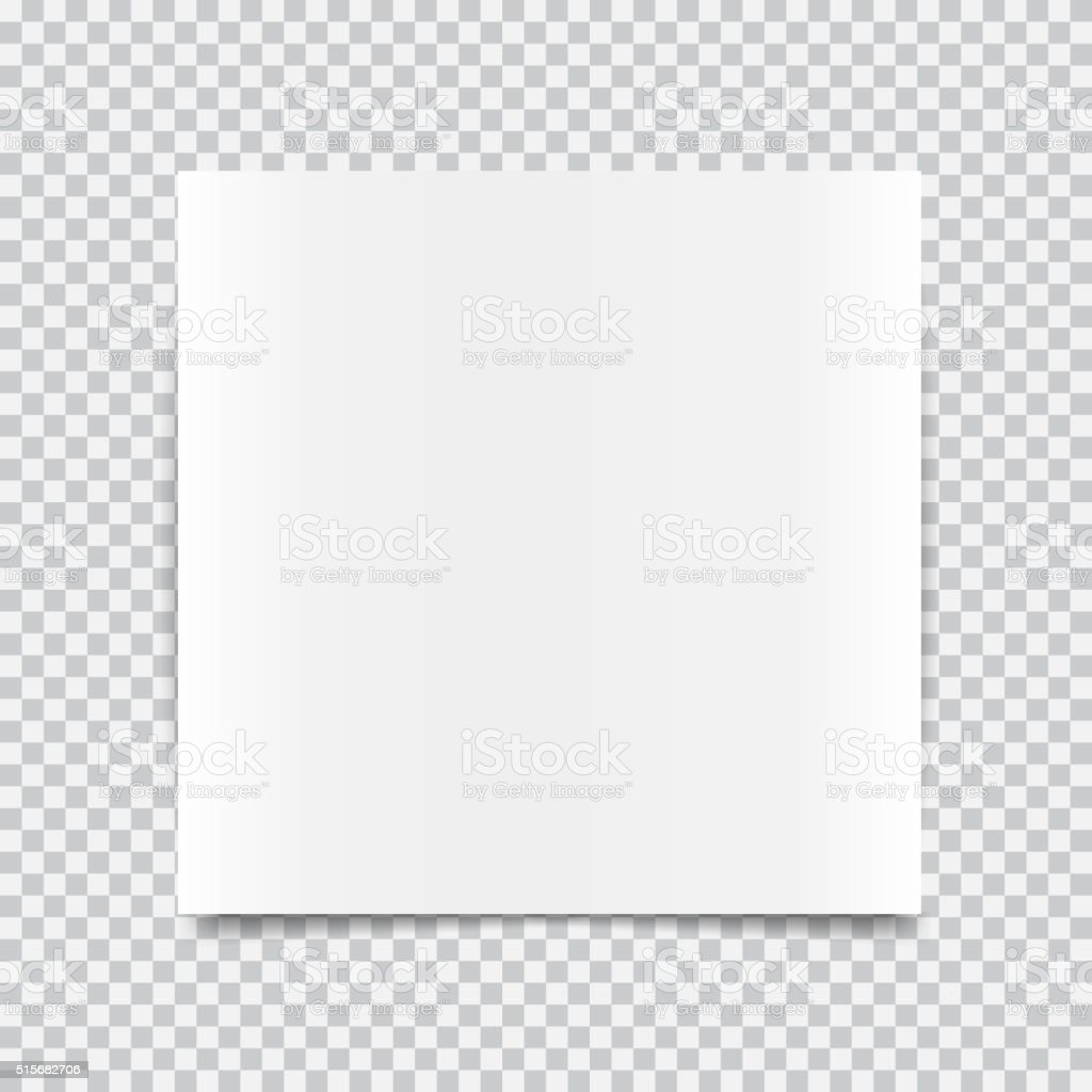 transparent realistic paper shadow effects vector art illustration
