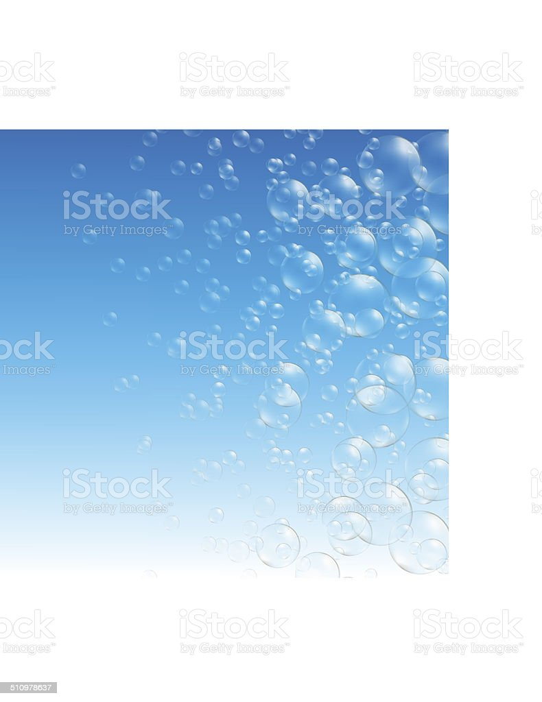 transparent soap bubbles vector art illustration