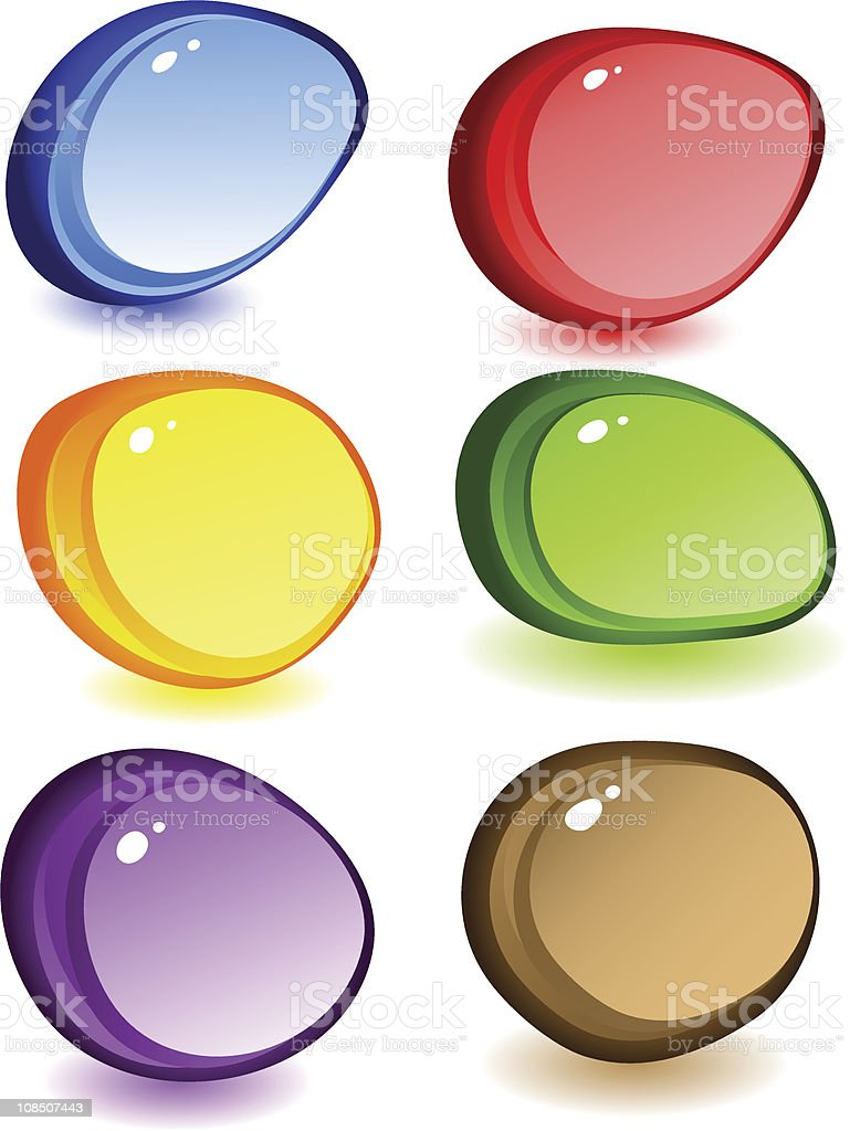 Transparent stones royalty-free stock vector art
