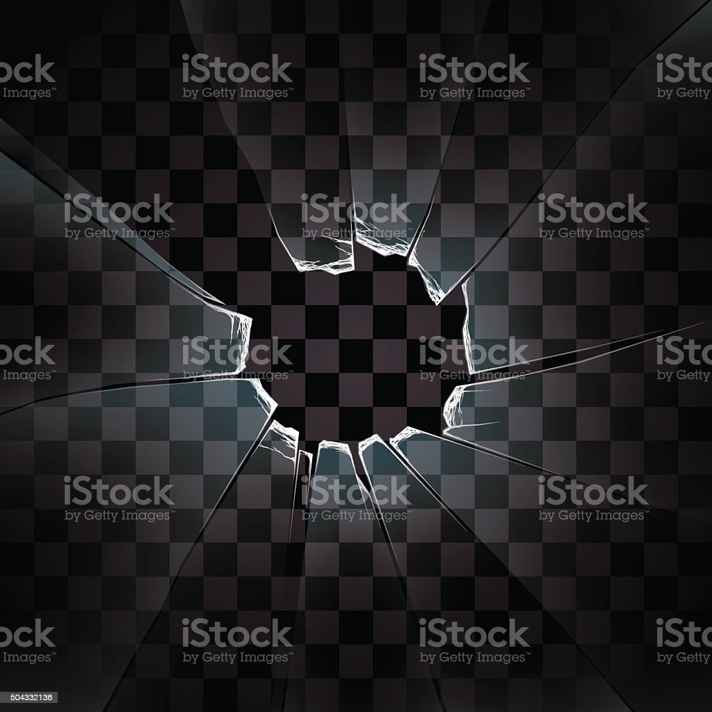 transparent vector the broken glass vector art illustration