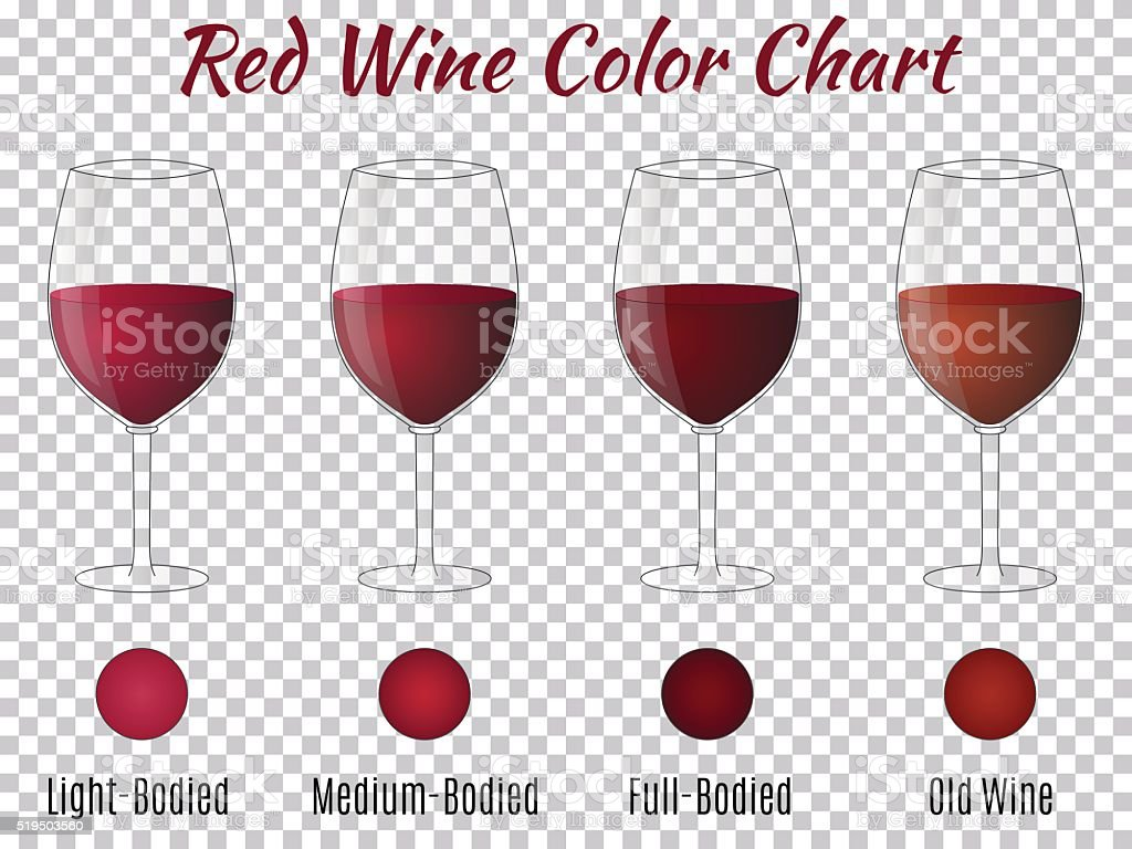 Transparent vector wineglass with red wine vector art illustration