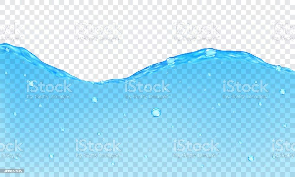 Transparent water background vector art illustration