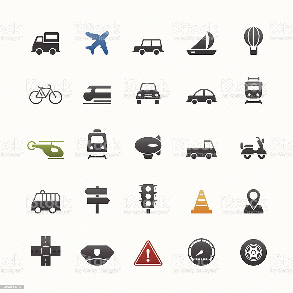 transport and traffic vector symbol icon set royalty-free stock vector art