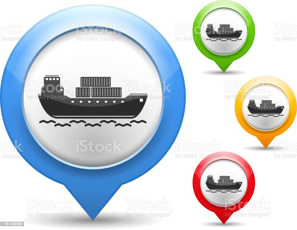 Transport Barge Icon royalty-free stock vector art