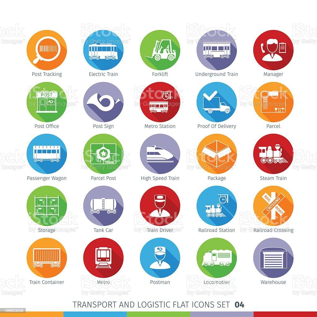Transport Flat Set vector art illustration