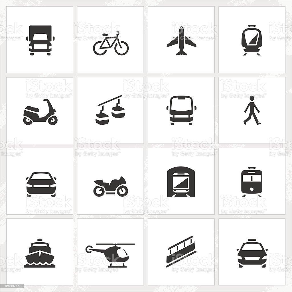 Transport Icons vector art illustration