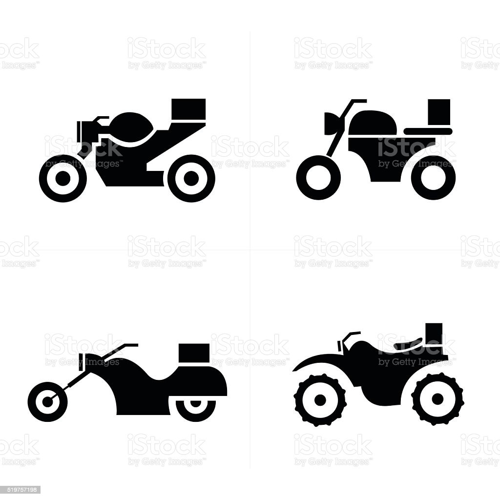 Transport motorcycle  Icons Icons vector art illustration