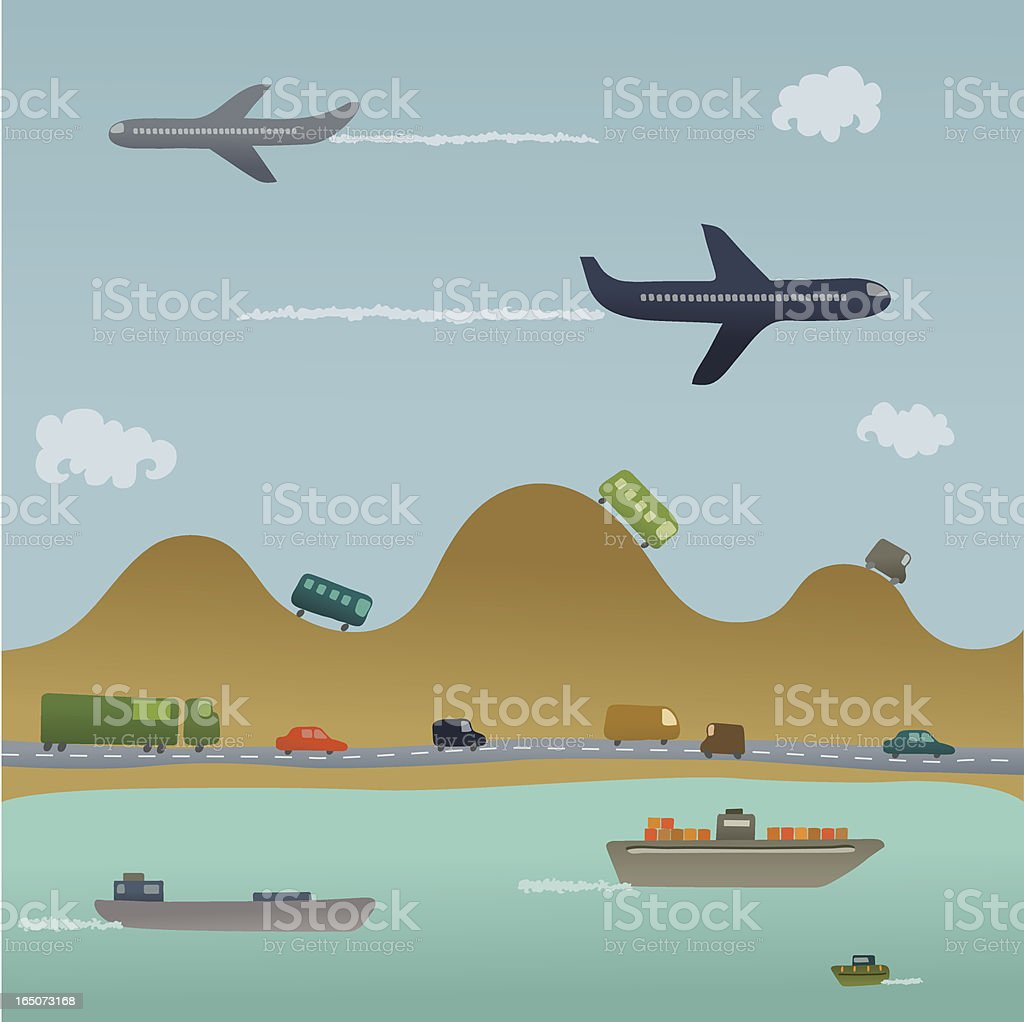 Transport Network royalty-free stock vector art