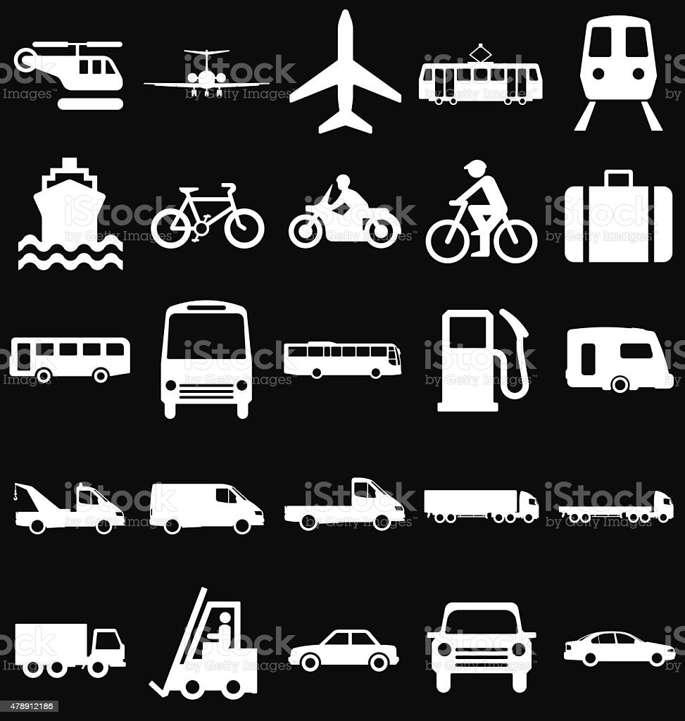 Transport Related Graphics vector art illustration