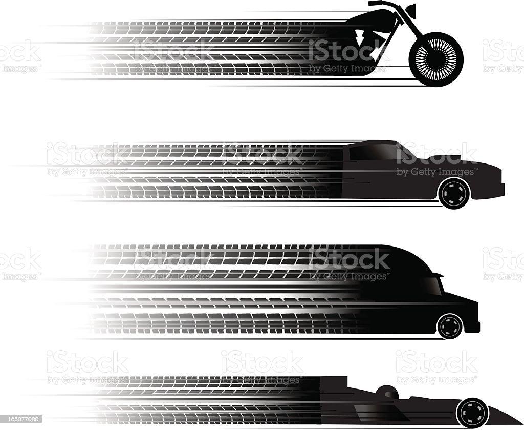 transport skid vector art illustration
