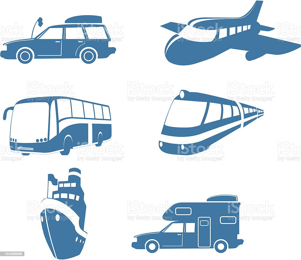 Transport & Travel icons royalty-free stock vector art