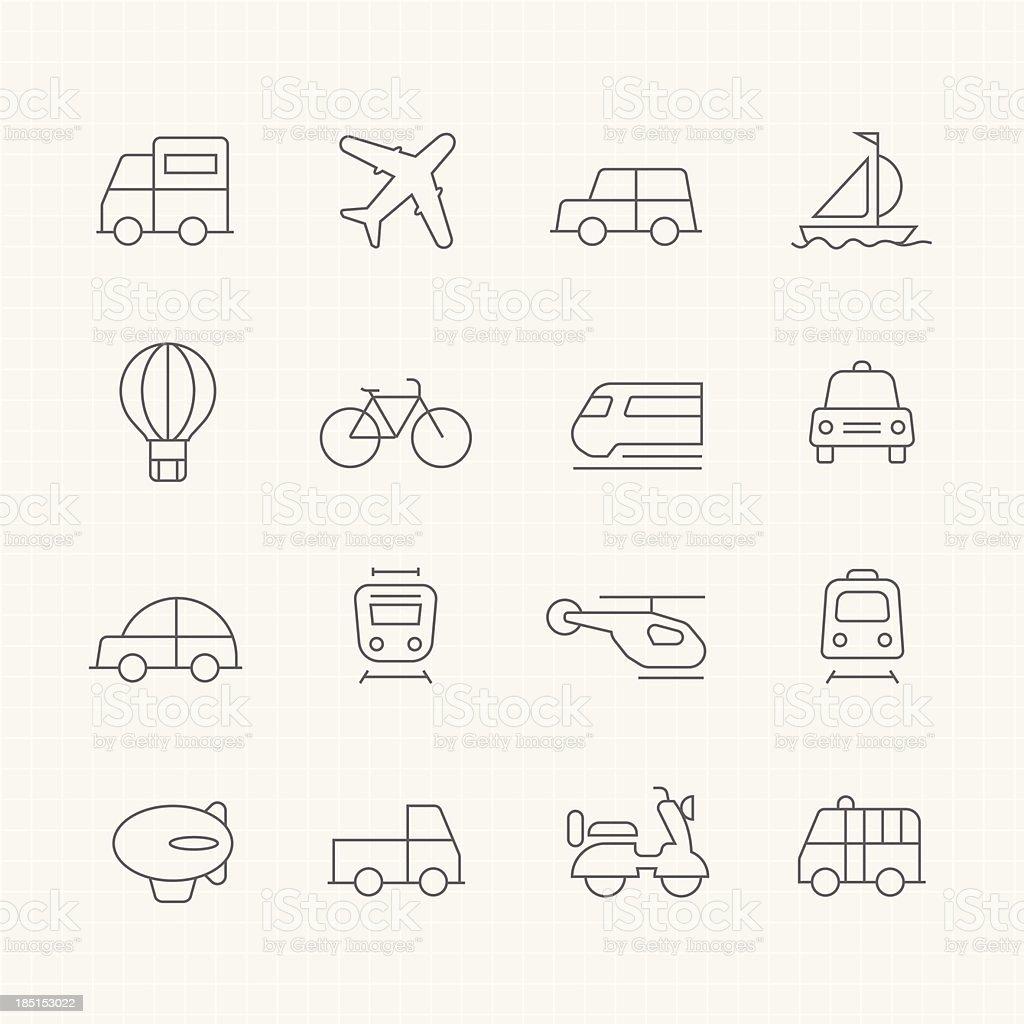 transport vector thin line symbol icon vector art illustration