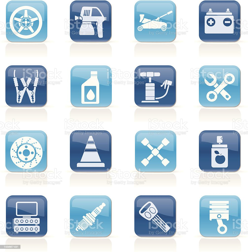 Transportation and car repair icons royalty-free stock vector art