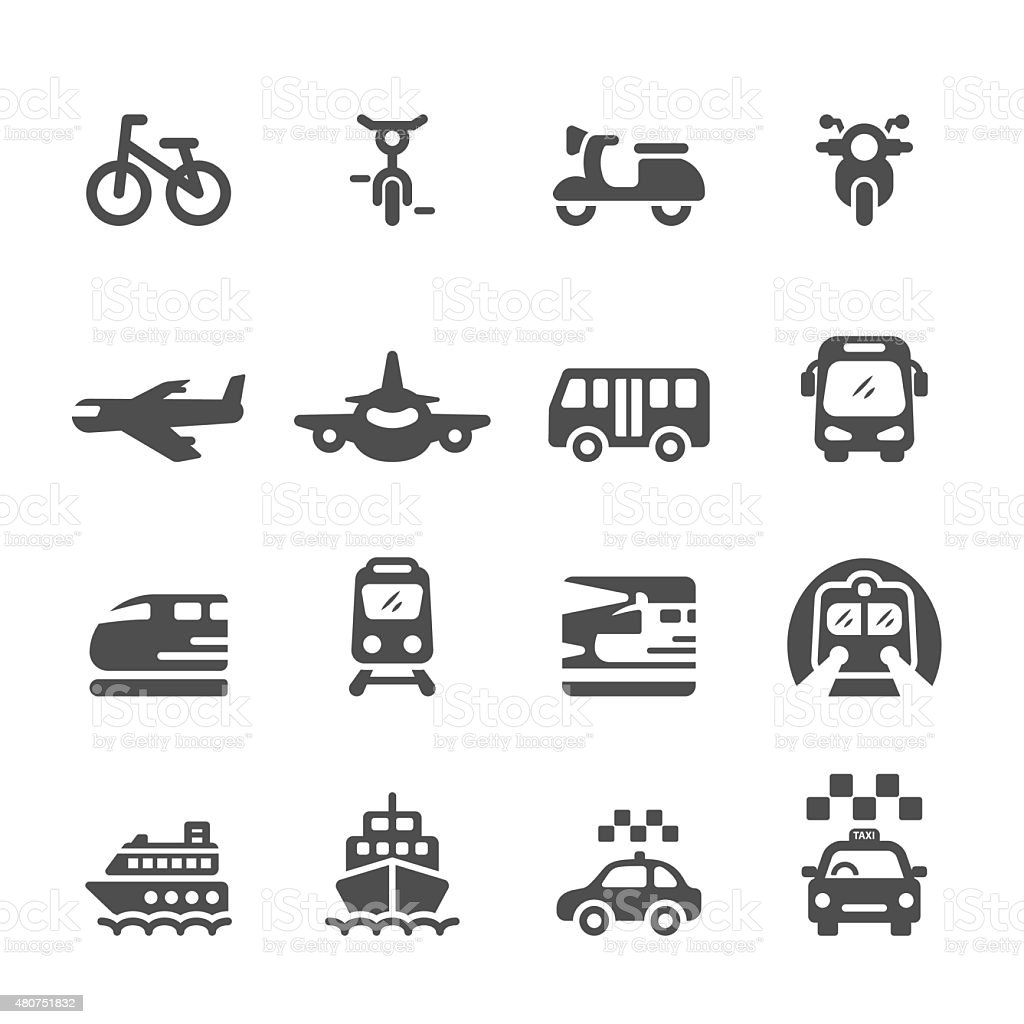 transportation and vehicles icon set, vector eps 10 vector art illustration