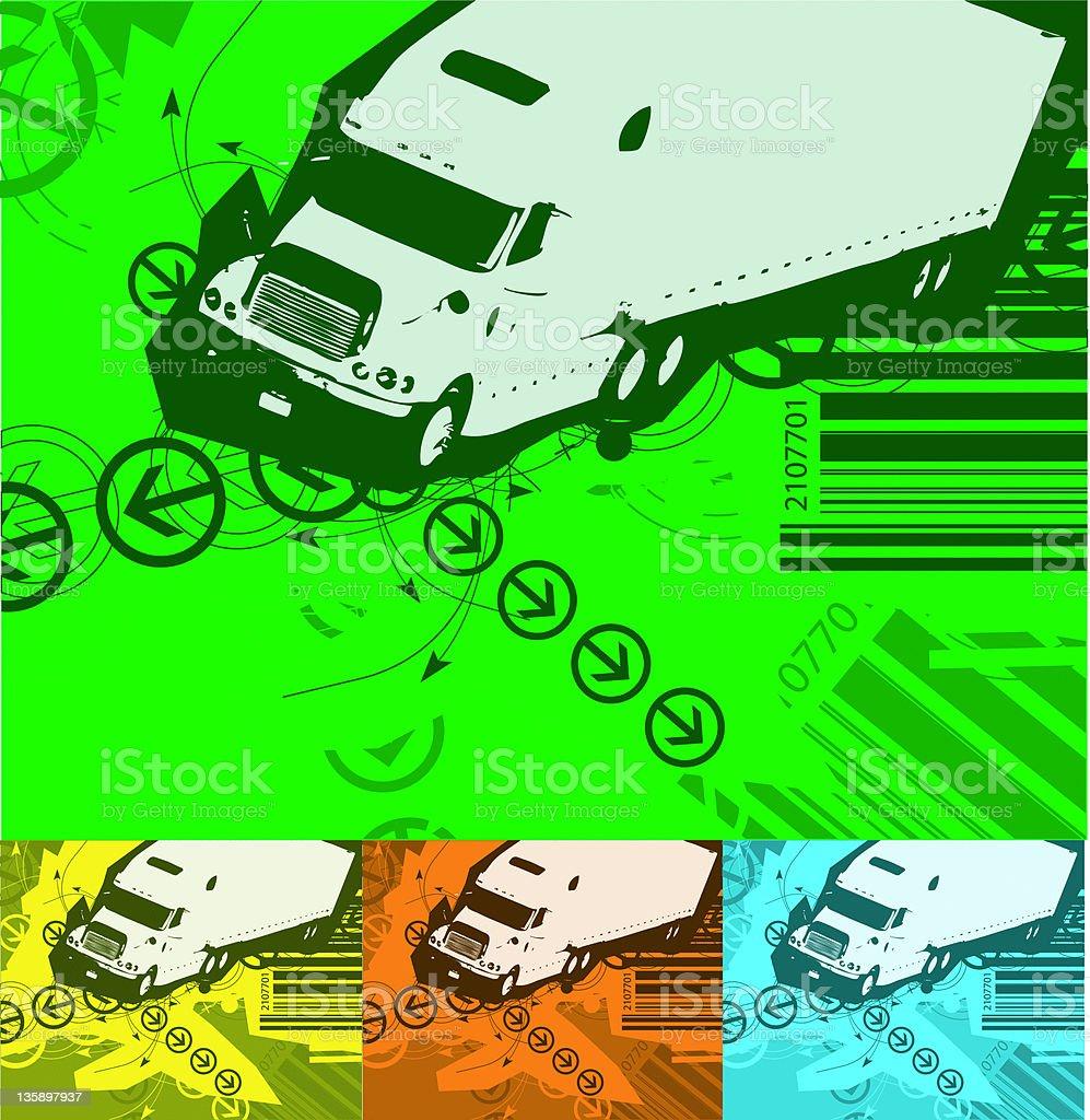 transportation background (vector) royalty-free stock photo