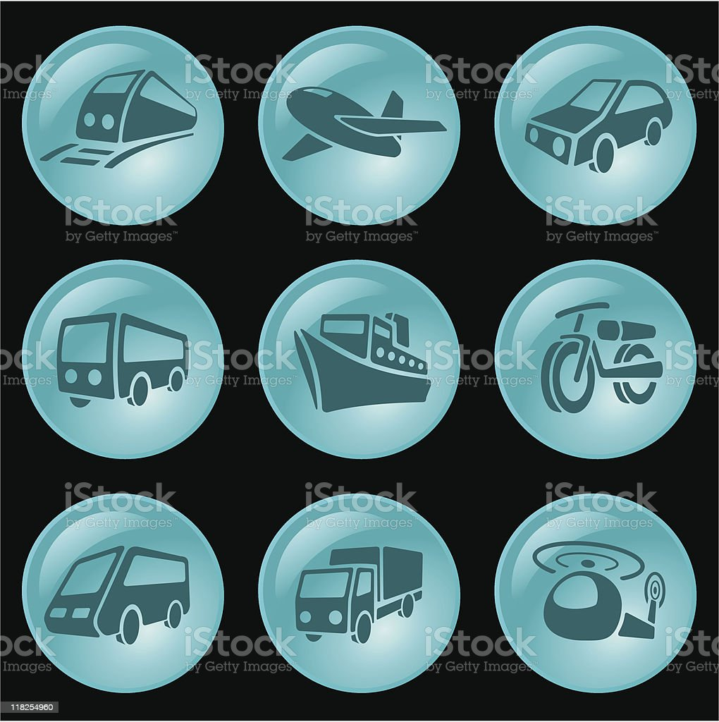 Transportation buttons royalty-free stock vector art