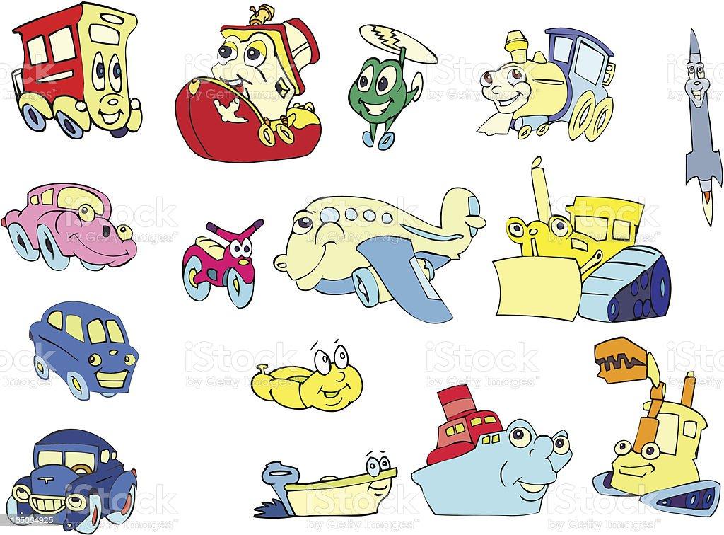 Transportation Cartoons royalty-free stock vector art
