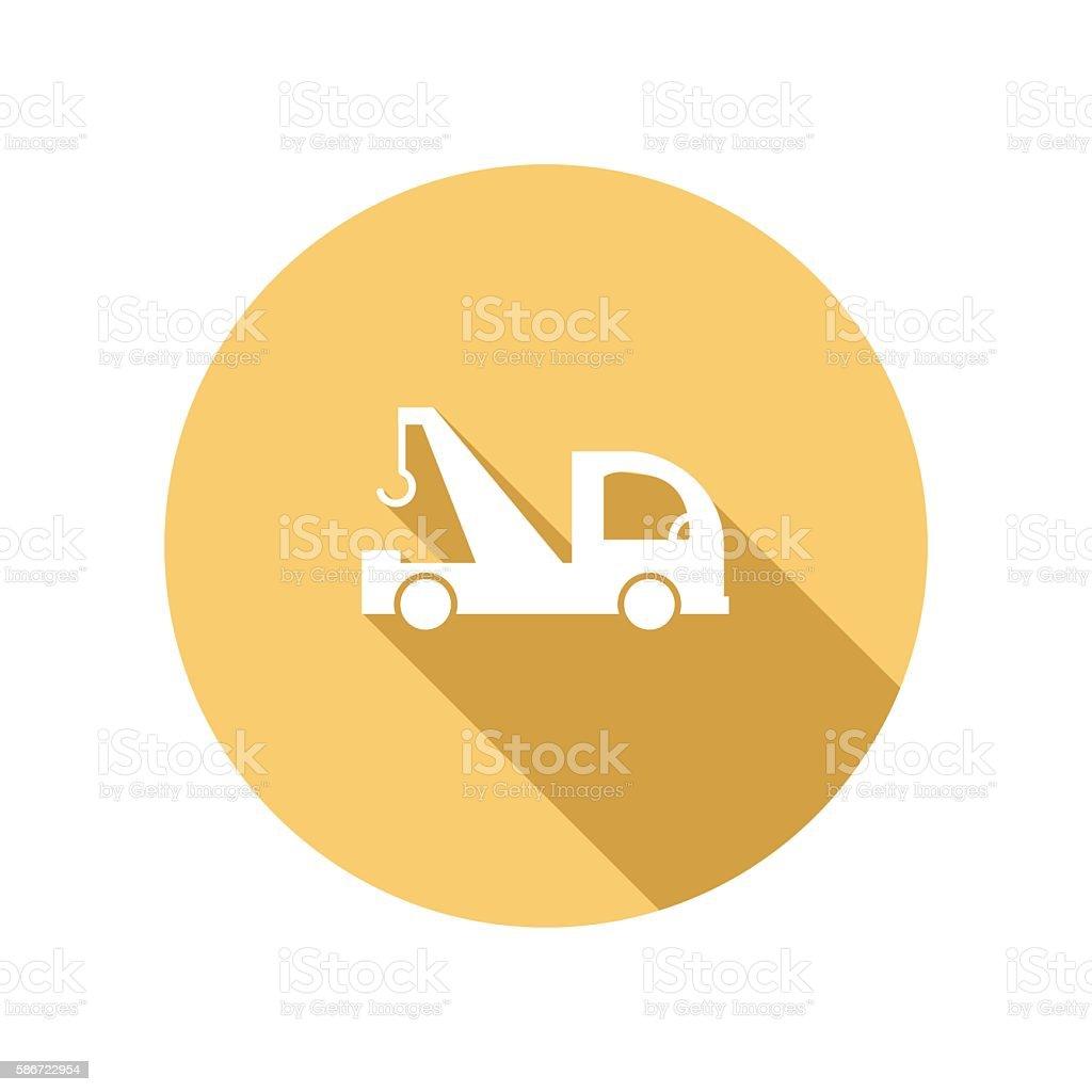 Transportation Flat Color Long Shadow Icons vector art illustration