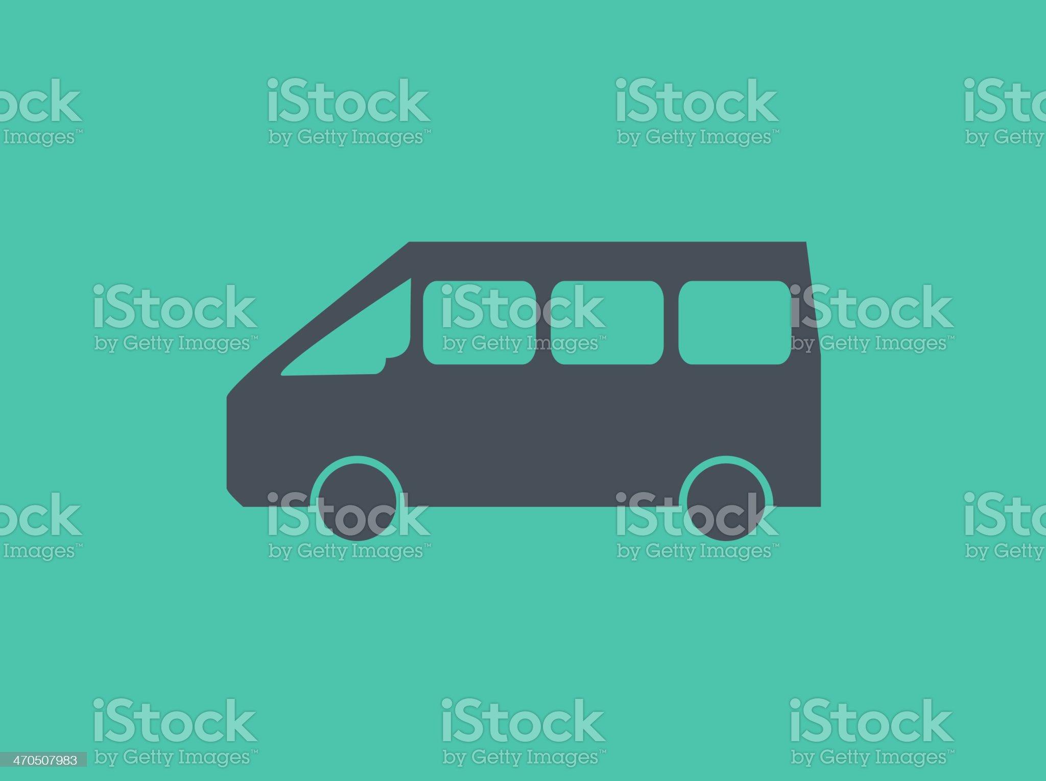 Transportation Flat Icon royalty-free stock vector art