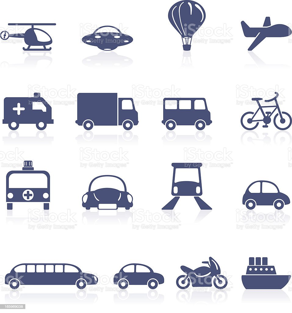 Transportation icon collection royalty-free stock vector art